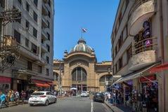 Fachada municipal de Mercado do mercado municipal em Sao Paulo do centro - Sao Paulo, Brasil Imagem de Stock