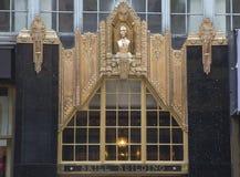 Fachada na construção do parracho em Manhattan Foto de Stock