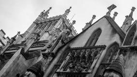 Fachada norte de Bristol Cathedral BW imagem de stock royalty free