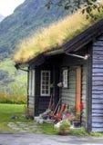 Fachada noruega de la casa Foto de archivo libre de regalías