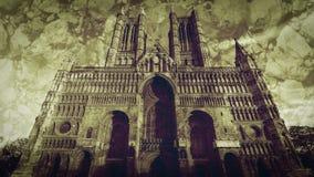 Fachada ocidental de Lincoln Cathedral Fine Art A imagem de stock royalty free