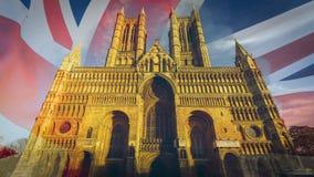 Fachada ocidental de Lincoln Cathedral Fine Art B foto de stock royalty free