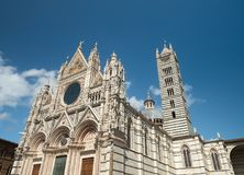 Fachada ocidental de Siena Cathedral Imagem de Stock