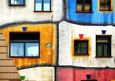 Fachada orgânica da arquitetura Foto de Stock Royalty Free