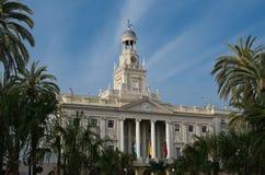Fachada principal ayuntamiento de Cádiz Imagen de archivo libre de regalías