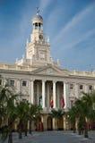 Fachada principal ayuntamiento de Cádiz Foto de archivo libre de regalías