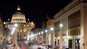 Fachada principal da basílica de San Pietro, Vaticano roma video estoque