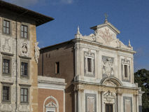 Fachada principal da igreja de Santo Stefano Knights no dei Cavalieri da praça, Pisa imagem de stock