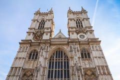 Fachada principal de la abadía de Westminster, Londres Imagen de archivo libre de regalías