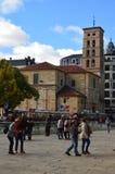 Fachada principal de la iglesia de San Marcelo In Leon Arquitectura, viaje, historia, fotografía de la calle imagen de archivo libre de regalías