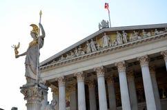 Fachada principal del edificio del parlamento austríaco Fotografía de archivo libre de regalías