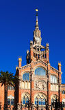 Fachada principal del hospital de la cruz y de Saint Paul santos Foto de archivo libre de regalías