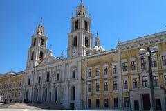 Fachada principal del palacio nacional de Mafra, Portugal Imagen de archivo