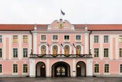 Fachada principal del parlamento de Estonia Fotos de archivo libres de regalías