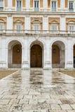 Fachada principal. El palacio de Aranjuez, Madrid, herencia de Spain.World se sienta imagen de archivo libre de regalías