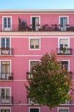 Fachada rosada fotos de archivo libres de regalías
