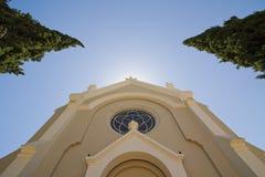 Fachada superior de la iglesia Foto de archivo libre de regalías