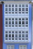 Fachada típica de janelas vitrificadas tradicionais de Galiza, Espanha imagens de stock royalty free