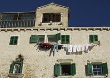 Fachada tradicional en Dalmacia, Croacia Imagen de archivo libre de regalías