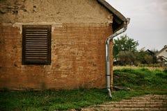 Fachada velha da casa foto de stock