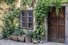 Fachada velha da casa. Imagens de Stock Royalty Free