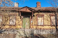 Fachada velha da casa Tallinn, Estónia Foto de Stock Royalty Free
