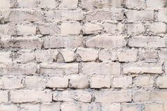 Fachada velha do tijolo de pálido - cor cor-de-rosa Imagens de Stock