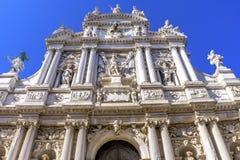 Fachada Veneza Itália de Santa Maria Giglio Zobenigo Church Baroque fotos de stock royalty free