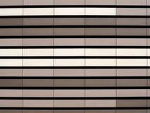 Fachada ventilada da parede de cortina do metal Fim acima Fotografia de Stock
