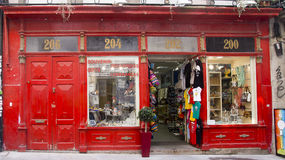 Fachada vermelha Porto Portugal Fotografia de Stock Royalty Free