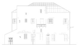 Fachada vieja del edificio ilustración del vector