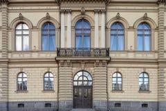 Fachada vieja del edificio Fotos de archivo