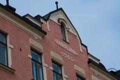 Fachada vieja del edificio Año 1905 Imagenes de archivo