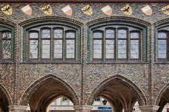 Fachada vieja del edificio en Lubeck, Alemania Fotografía de archivo