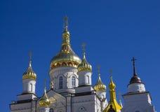 Fachada y la iglesia del ofOrthodox de la arquitectura Imagen de archivo