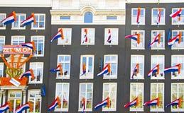 Fachadas adornadas en Amsterdam los Países Bajos de vez en cuando del th Imagen de archivo