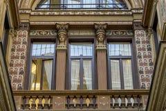 Fachadas adornado pintadas y adornadas del Galleria Sciarra, Imagen de archivo libre de regalías