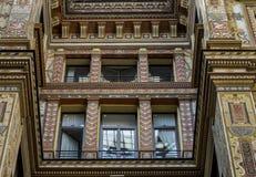 Fachadas adornado pintadas y adornadas del Galleria Sciarra Imagenes de archivo