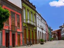 Fachadas coloridas de Gran Canaria Teror fotos de stock