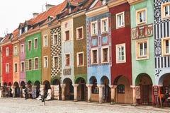Fachadas das construções da cidade velha europeia Imagens de Stock