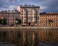 Fachadas das construções de St Petersburg fotografia de stock royalty free