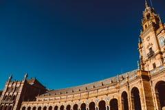 Fachadas das constru??es no quadrado espanhol ou na plaza de Espana andalusia foto de stock