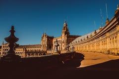 Fachadas das constru??es no quadrado espanhol ou na plaza de Espana andalusia fotos de stock