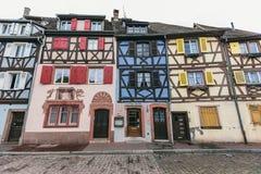 Fachadas de casas en Colmar, Francia fotos de archivo libres de regalías