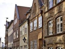 Fachadas históricas en Lüneburg Imagenes de archivo