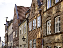 Fachadas históricas em Lüneburg Imagens de Stock