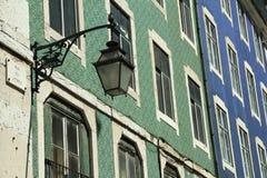 Fachadas de cerámica viejas hermosas en Lisboa Imagenes de archivo