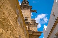 Fachadas de edificios viejos imagen de archivo