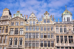 Fachadas de edificios viejos en Bruselas Fotos de archivo libres de regalías