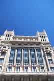 Fachadas de Madrid Foto de archivo libre de regalías